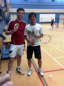 Summer Singles winner David Doan (right) with runner-up Nick Abitabile (left)